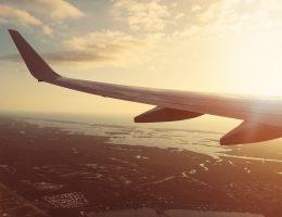 Voyageur dans un avion pour un voyage au soleil en hiver